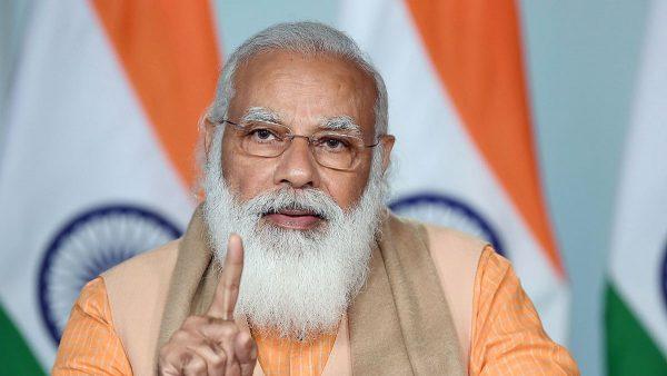Le Premier ministre indien Narendra Modi, à Gorakhpur dans l'Uttar Pradesh, le 4 février 2021. (Source : Freepressjournal)