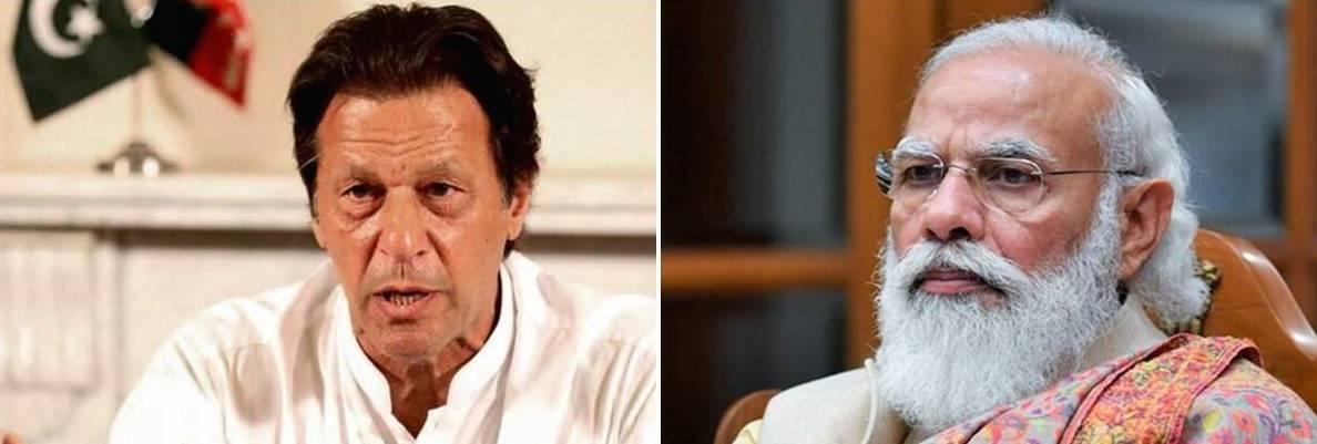 Le premier ministre pakistanais Imran Khan et son homologue indien Narendra Modi. (Source : Indian Express)