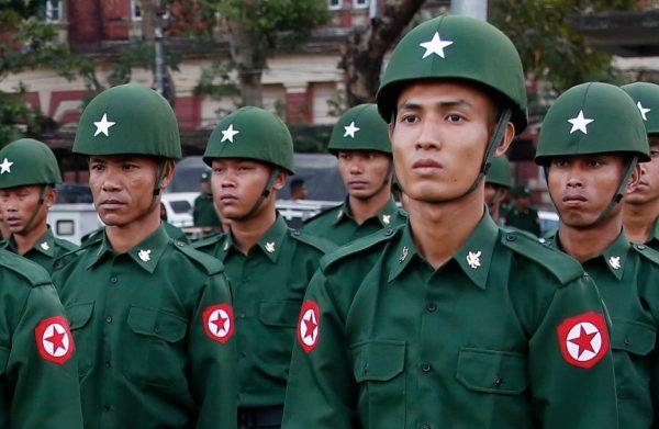 Depuis le putsch du 1er février en Birmanie, des désertions en nombre indéterminé concernent de jeunes officiers. (Source : Guardian)