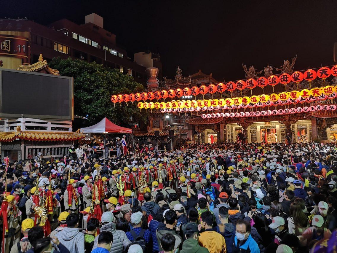 Le temple Jenn Lan avant la sortie de la déesse, dans le district de Dajia à Taichung. (Credit : Alice Hérait)