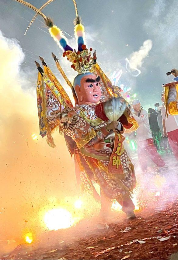 Représentation du dieu enfant Nezha. (Crédit : Qiu Jun Hong)