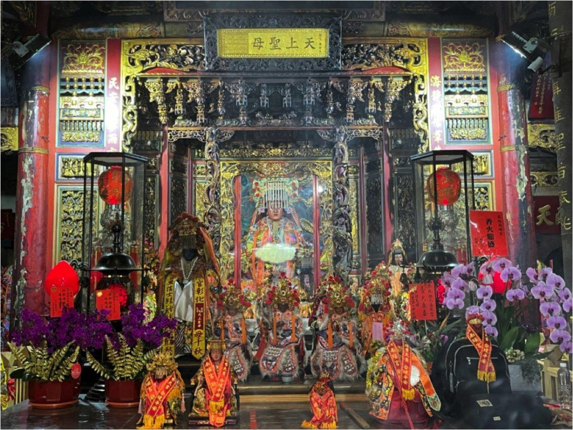 Statue de Mazu dans le temple Nan Yao à Changhua. (Credit : Qiu Jun Hong)