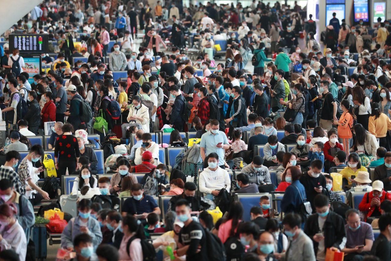 La gare de Wuhan le 30 avril 2021. (Source : HKO1)
