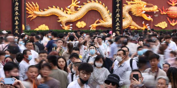 """Au Temple de Confucius à Nankin, durant la """"semaine en or"""" du 1er mai 2021. (Source : Chinese Herald)"""