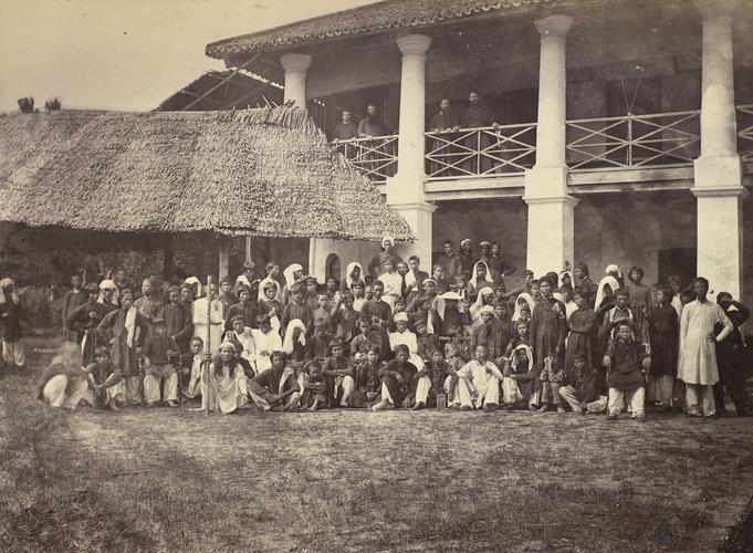 Le Collège général à Penang vers 1868. (Crédit : Kristen Feilberg)