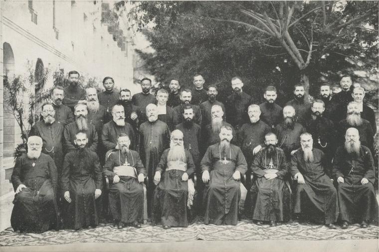 Consécration épiscopale de Monseigneur Adrien Devals, évêque de Malacca, le 15 avril 1934. (Crédit : DR)