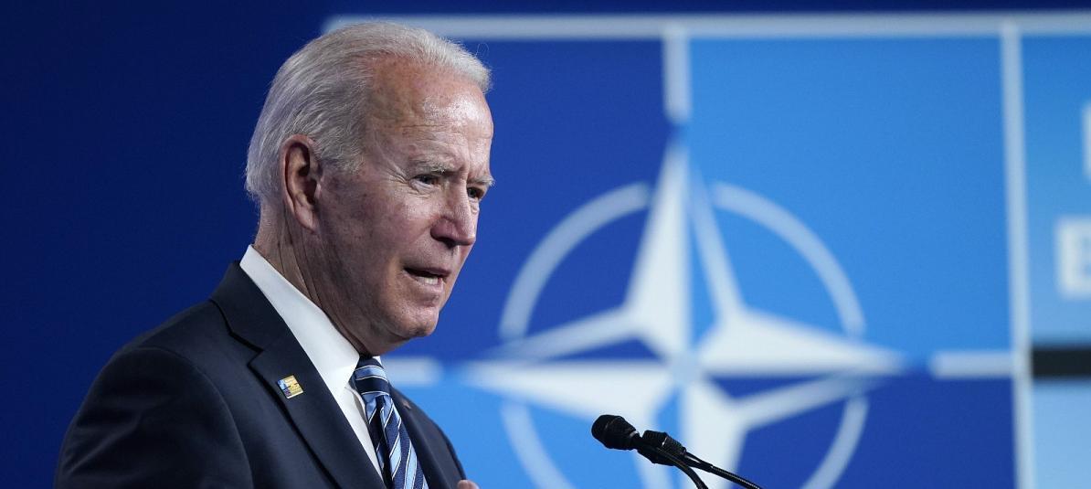 Le président américain Joe Biden lors du sommet de l'OtAN à Bruxelles, le 14 juin 2021. (Source : Euronews)