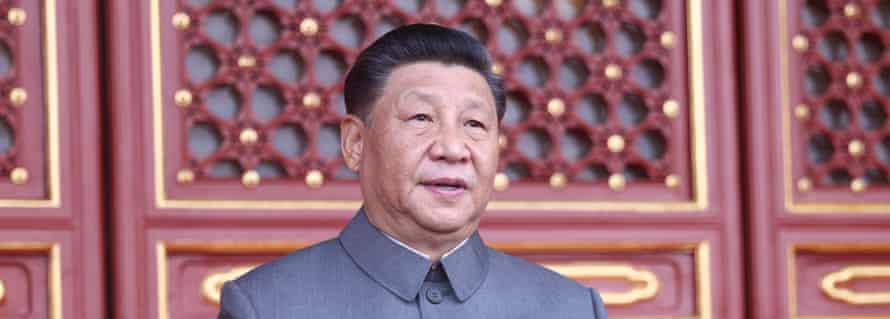 Le président chinois Xi Jinping lors des célébrations du centenaire du Parti communiste à Pékin, place Tiananmen, le 1er juillet. (Source : Worldbest)