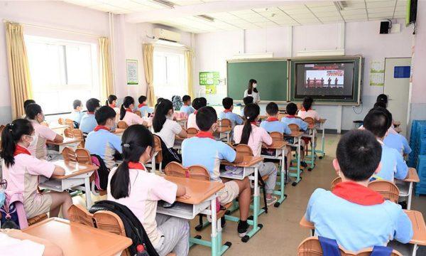 """La """"pensée Xi Jinping"""" est enseignée à l'école primaire en Chine depuis la rentrée du 1er septembre 2021. (Source : GT)"""