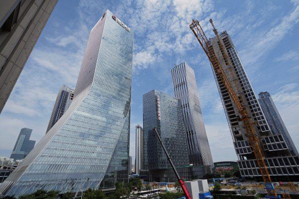 L'un des chantiers d'Evergrande à Shenzhen, le 26 septembre 2021. (Source : Daily Sabah)