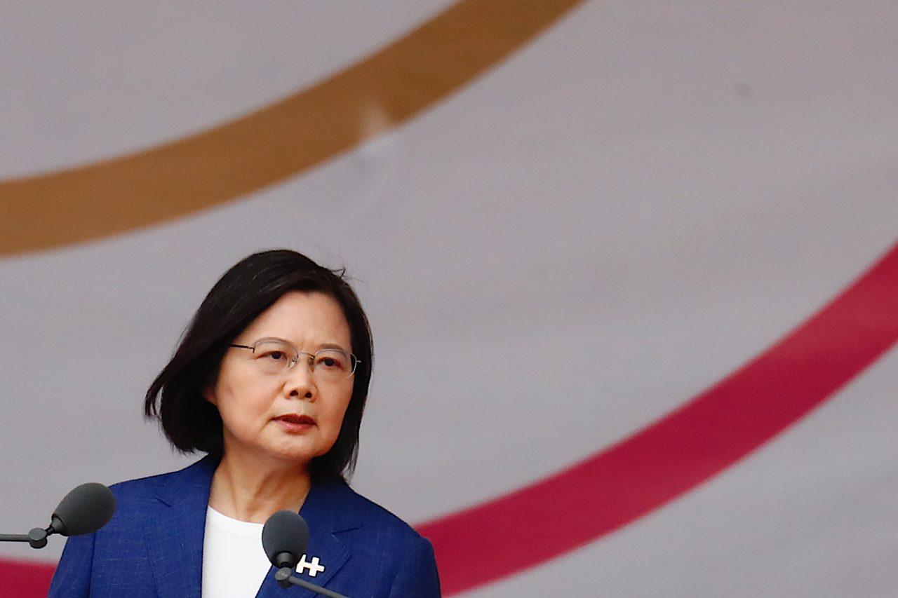 Dans son discours pour marquer la fête nationale, la présidente taïwanaise Tsai Ing-wen a rappelé son attachement à la souveraineté, à la liberté et à la démocratie de Taïwan. (Copyright : Daniel Ceng)